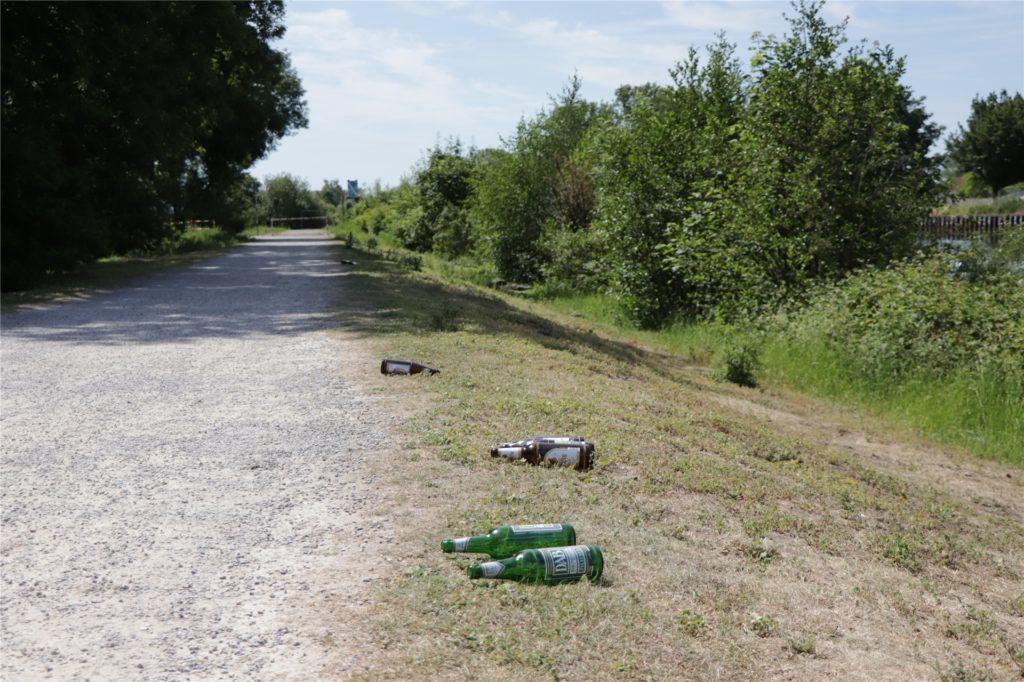 Im Sommer sind die Wege am Kanal ein lohnender Ort für Pfandflaschensammler.
