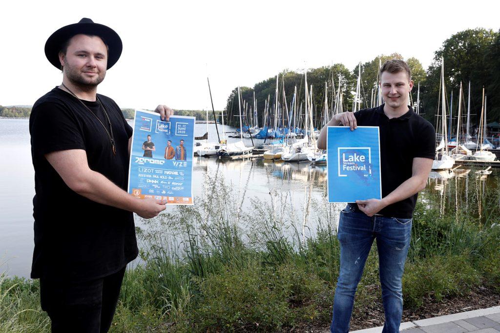 Jan Ribicki und (l.) und Jan Schmeling haben das Lake Stream Festival auf die Beine gestellt.