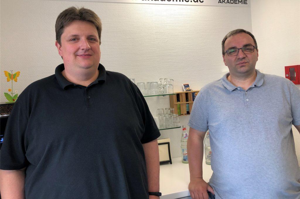 Benjamin Bialetzki und Jens Schwichtenberg (v.l.) leiten die Tremonia-Akademie, die früher das CCDo-Bildungszentrum war.