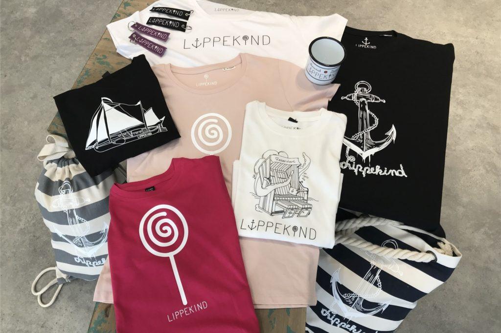Die Lippekind-Macher haben unterschiedliche Motive für die T-Shirts und Accessoires entworfen.