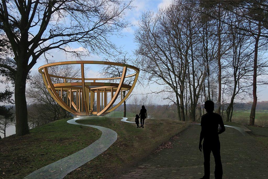 Das Stadtkrone-Bauwerk der Künstlergruppe