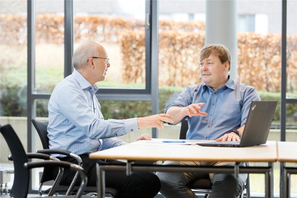 Die beiden LDC-Geschäftsführer Dr. Bert Klebl (r.) und Dr. Peter Nussbaumer (l.) sind gemeinsam mit Dr. Michael Hamacher auch Manager des 60-Millionen-Euro-Fonds Khan I.
