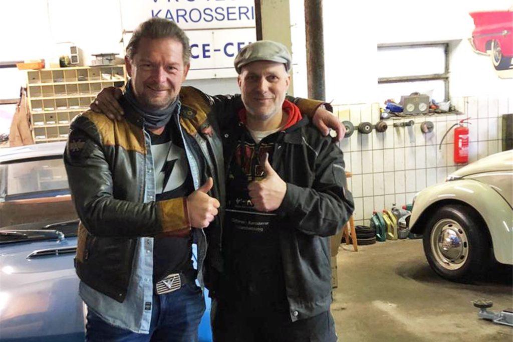 Det Müller war bereits öfter zu Besuch in Vreden. Hier ein Bild mit Claas Cynapolt aus dem vergangenen Jahr.