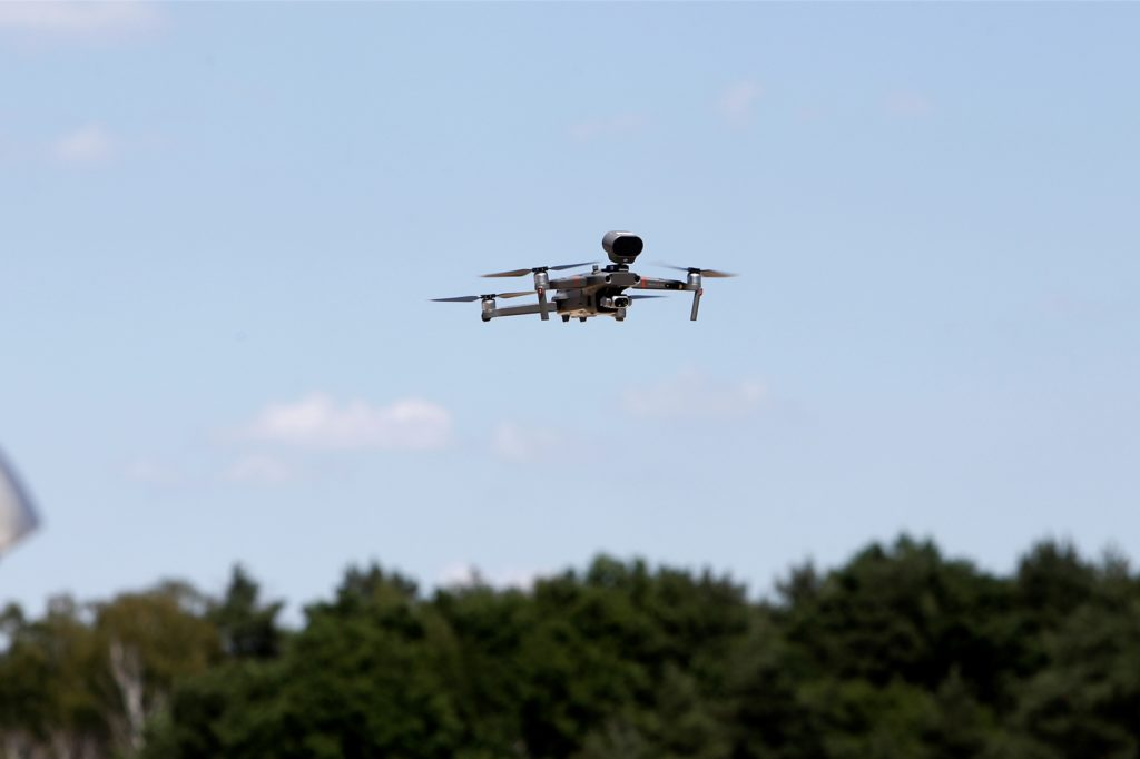 Drohne im Anflug auf das Seebad.