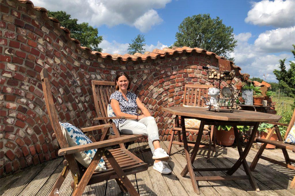 Mit dieser spanischen Mauer begann für Reinhilde und Rainer Löderbusch vor zehn Jahren die Umgestaltung ihres Gartens.