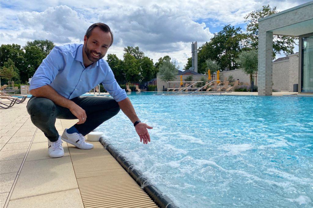 Auch die Sprudelliegen in der Sole funktionieren jetzt wieder, nachdem das Bad einige Teile beim Hersteller reklamieren musste, so der kaufmännische Leiter des Solebades, Carsten Langstein.
