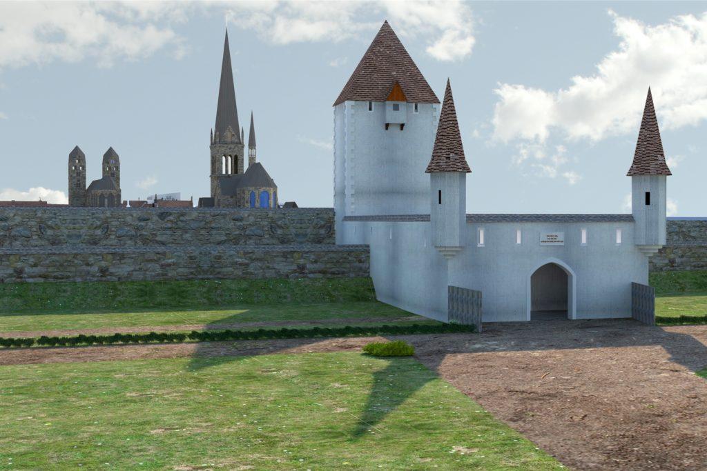 So hat der Dortmunder Hobbyhistoriker Markus Meeder nach alten Vorlagen das Ostentor virtuell rekonstruiert.