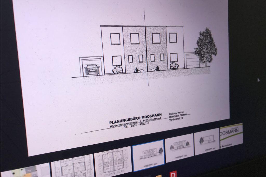 Zweistöckige Doppelhaushälften sollen in Deininghausen entstehen. Sie haben 105 Quadratmeter Wohnfläche.