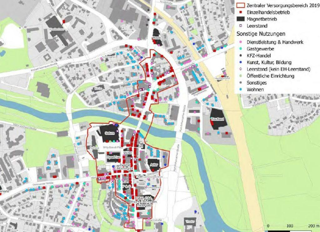 Der sogenannte Zentrale Versorgungsbereich in der Lüner Innenstadt, wie er im Masterplan Einzelhandel beschlossen wurde.