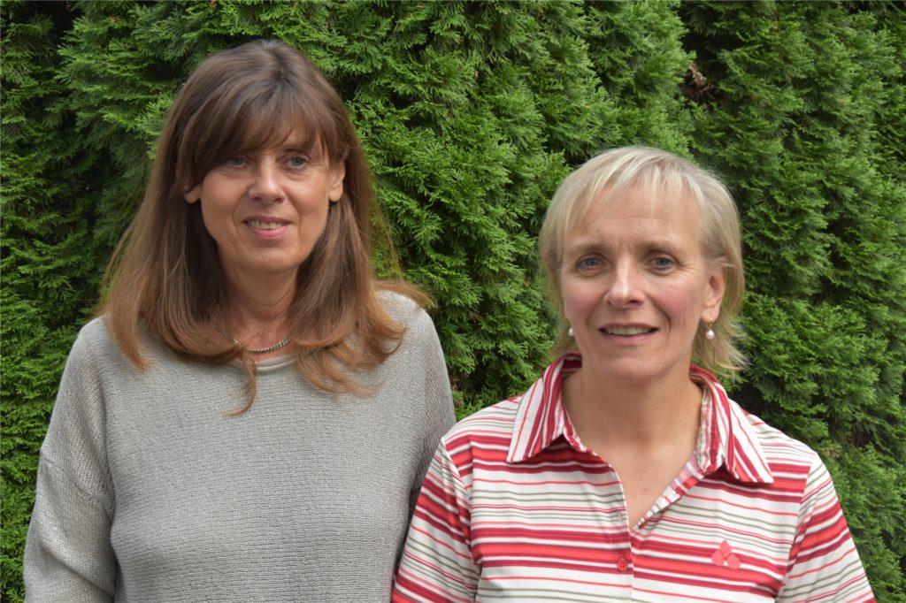 Margret Imach und  Stefanie Feller vom Fachdienst für Integration und Migration der Caritas.
