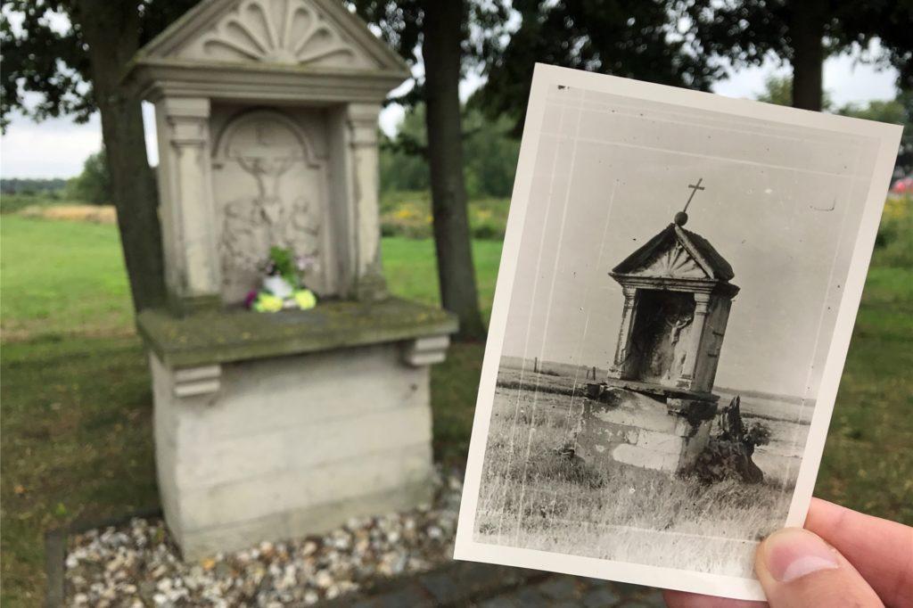 So sah der Bildstock früher einmal aus. Das Foto datiert aus dem Jahr 1916.