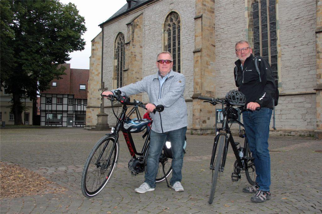 Die beiden Vertreter der UWW setzen sich unter anderem für Fahrrad-Schnellstraßen und mehr überdachte Abstellmöglichkeiten für Räder ein.