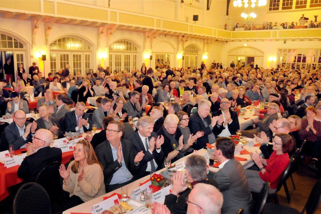 Die letzte Großveranstaltung im Freischützsaal vor Corona war der Politische Aschermittwoch der SPD Westfalen mit 600 Gästen.