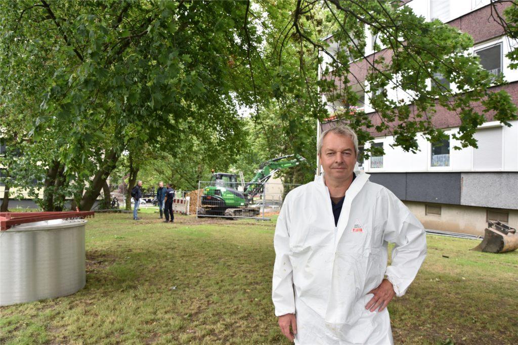 Andreas Brümmer vom Kampfmittelräumdienst der Bezirksregierung Arnsberg. Er ist mit für die Entschärfung der Bombe verantwortlich.