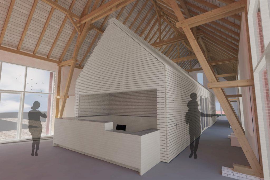 Ein Haus im Haus soll für die Tourismusinformation entstehen.