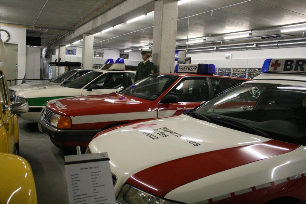 Neben gewöhnlichen Privat-Autos finden sich im Stadtlohner Siku-Museum auch Feuerwehr- oder Polizei-Autos.