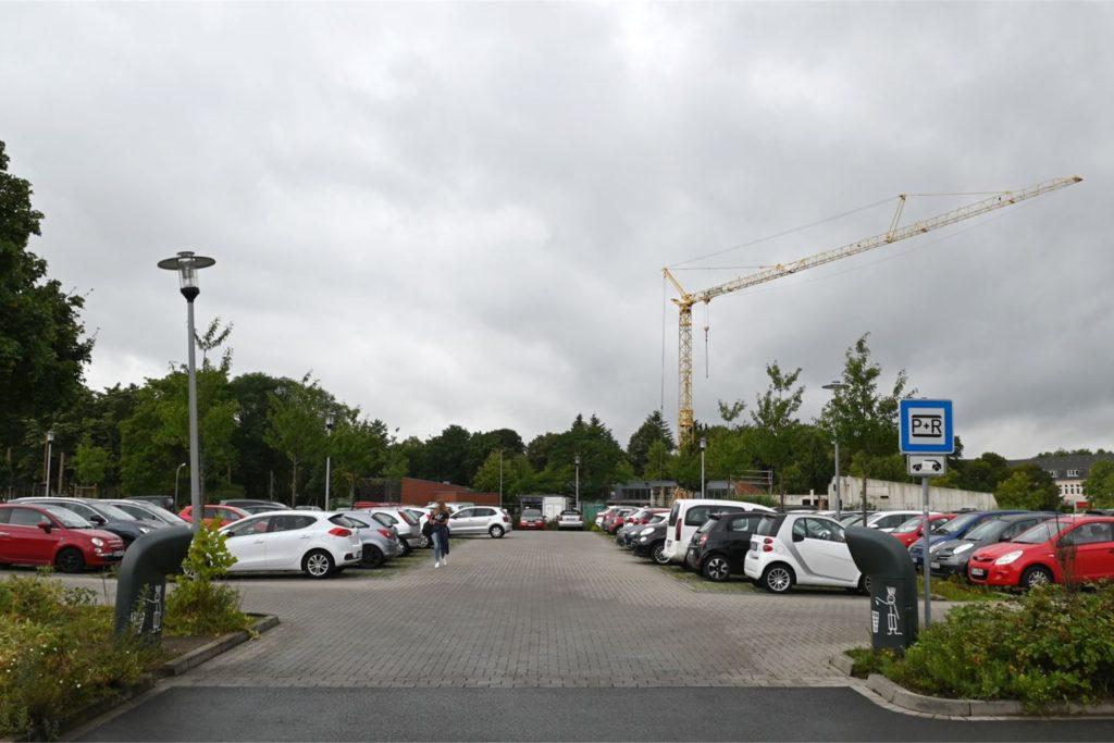 Der Park-and-Ride befindet sich unweit der Baustelle des Treffpunkts Altstadt.