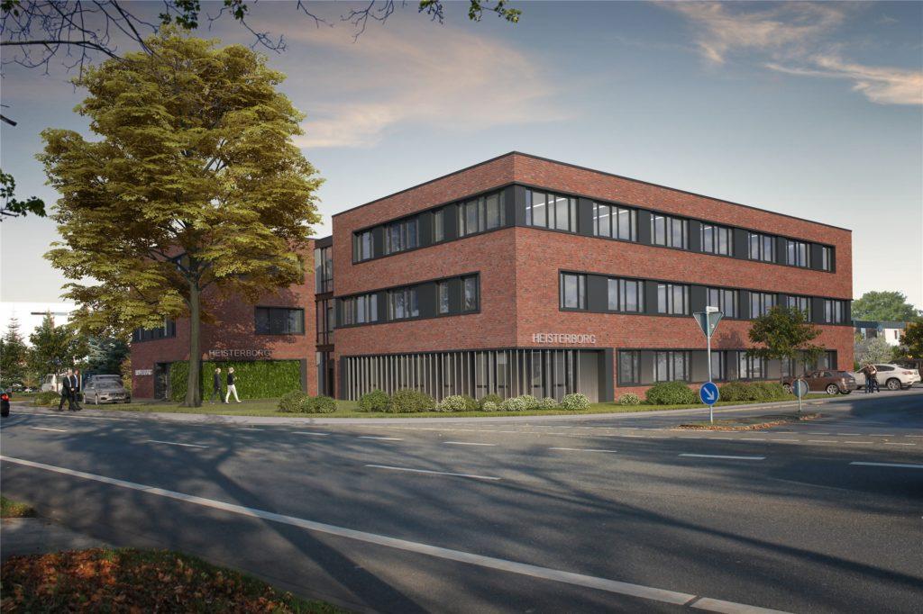 Die Firma Borgers errichtet an der Eschstraße ein neues Bürogebäude. Hierhin verlegt die Steuerberatungsgesellschaft Heisterborg ihren Firmensitz.