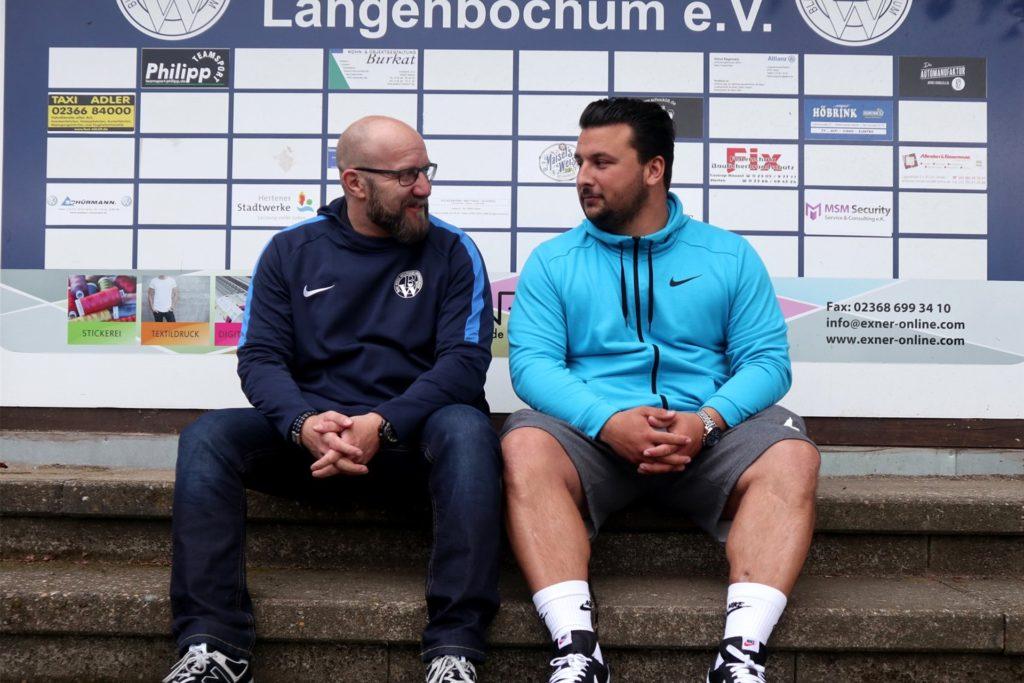 Zusammen mit Cheftrainer Nassir Malyar (r) betreut der ehemalige Schweriner und Ickerner Coach Stephan Böhm (r) den Landesligisten Westfalia Langenbochum.