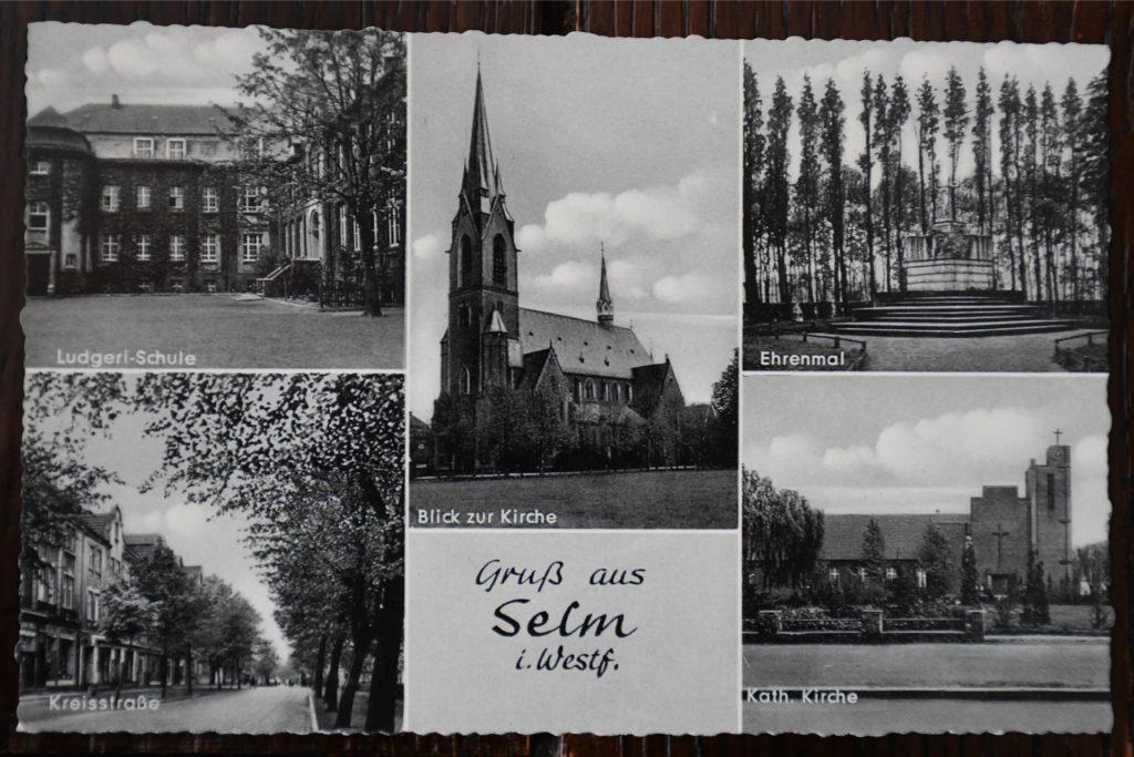 Auch auf mehrere Postkarten aus der Stadt Selm hat es die Kreisstraße geschafft.