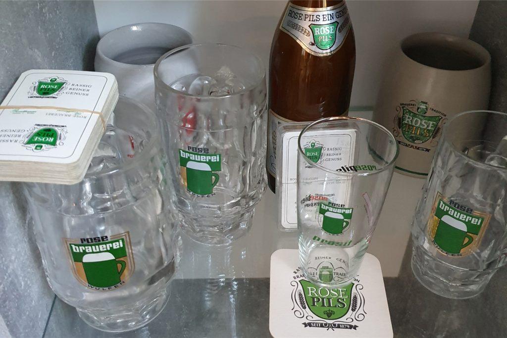 Allein schon die historischen Gläser mit dem Aufdruck der einstigen Kult-Biermarke sind heute nur noch schwer zu bekommen.