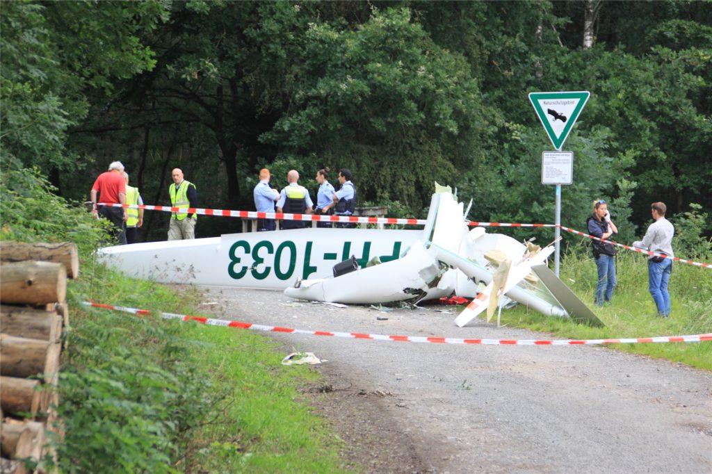 In diesem Segelflugzeug starb der 29 Jahre alte Pilot aus den Niederlanden.