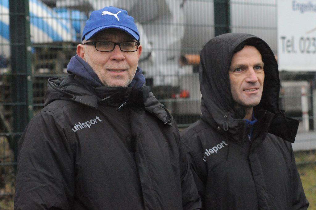 Auf Schwerin fungierte Klaus Musielak (l) als Torwart-Trainer unter Coach Marco Gruszka.  Christian Sehlhorst (r) war der Physiotherapeut des Teams.