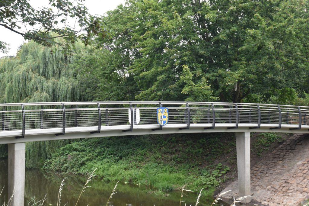 So sieht die Berkelbrücke im Stadtpark nach der Fertigstellung der Sanierung aus.