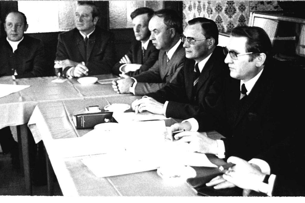 Josef Paris (2.v.r.) war von 1964 bis 1980 Bürgermeister Halterns.