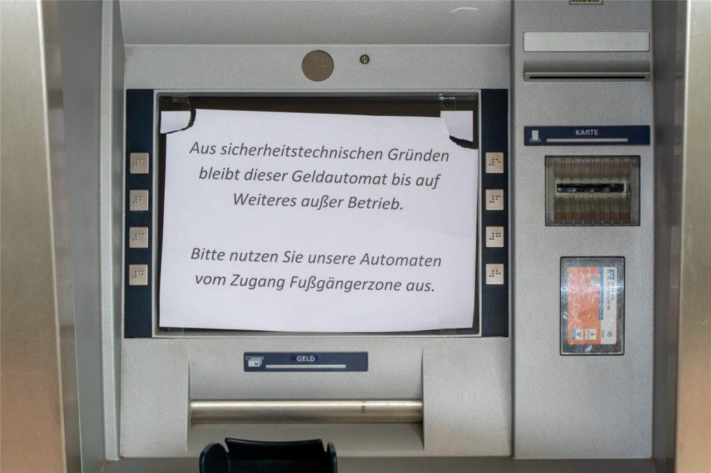 Die Volksbank hat einige Automaten in Ahaus, Lünten und Ammeloe außer Betrieb genommen.