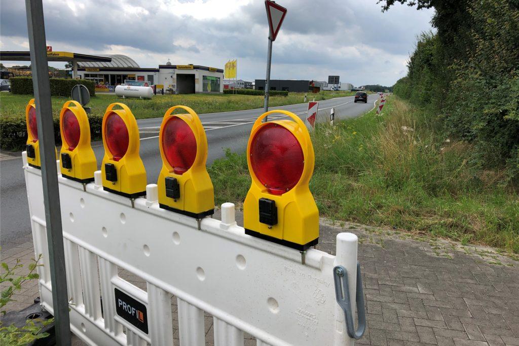 Die B 235 muss während der Bauarbeiten auf einem 2,1 Kilometer langen Teilstück  in Fahrtrichtung Datteln gesperrt werden.