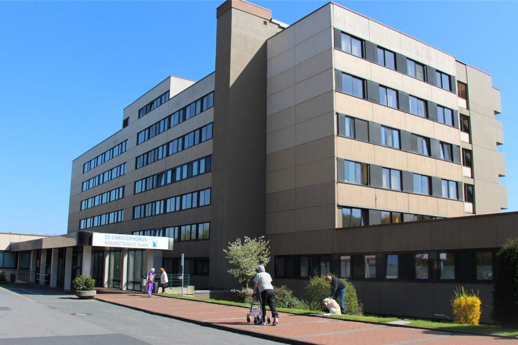 Das Krankenhaus St. Christophorus steht heute in unmittelbarer Nähe zum Werner Stadtwald.