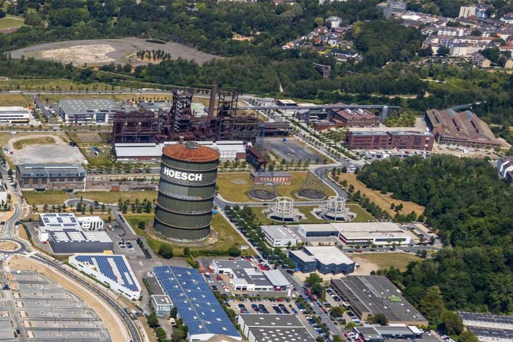Blick auf das Phoenix-West-Gelände in Dortmund