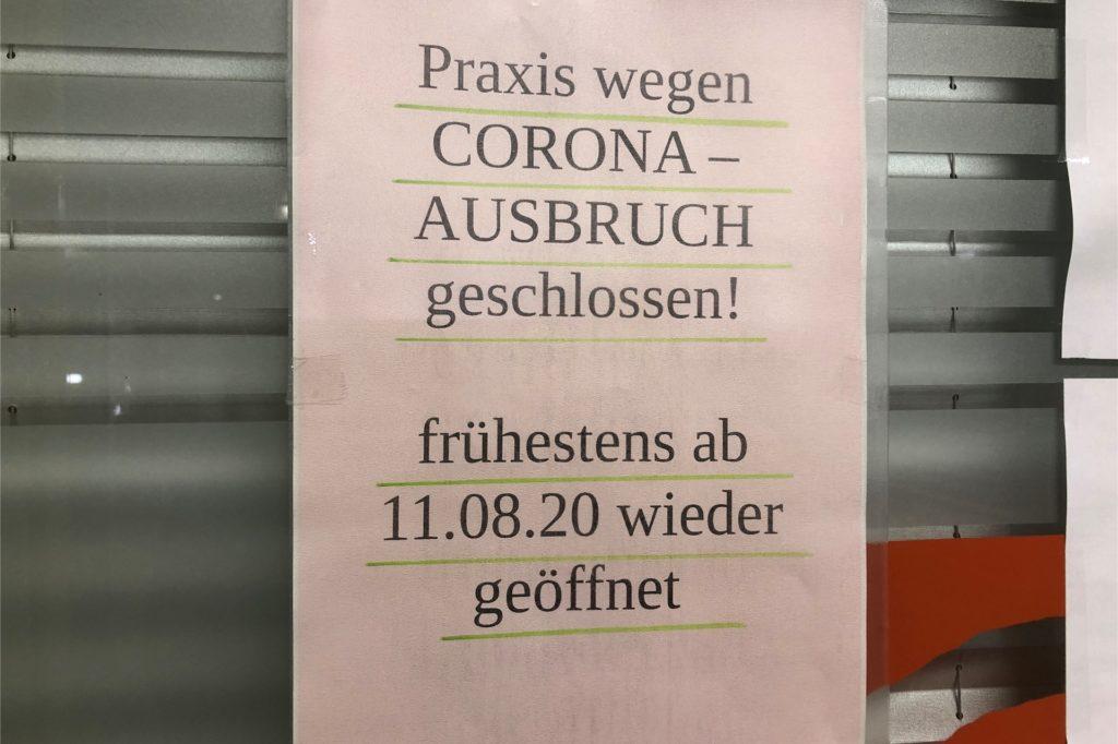 Die HNO-Praxis von Dr. Klaus Michael Pape an der Flughafenstraße 4 ist geschlossen, weil sich der Arzt mit Corona infiziert hat