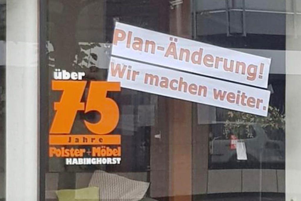 Armin Fiolka macht weiter. Eigentlich wollte der Habinghorster sein Möbelgeschäft schließen, nun geht der Verkauf weiter.