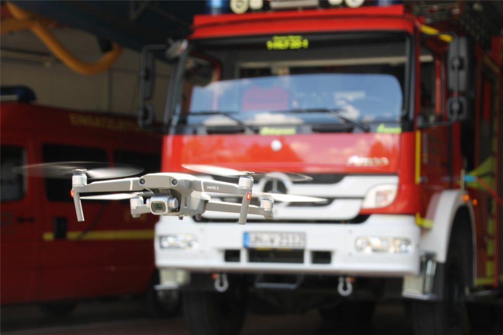 Die Drohne DJI Mavic 2 Pro kommt seit gut einem Jahr bei der Feuerwehr Werne zum Einsatz.