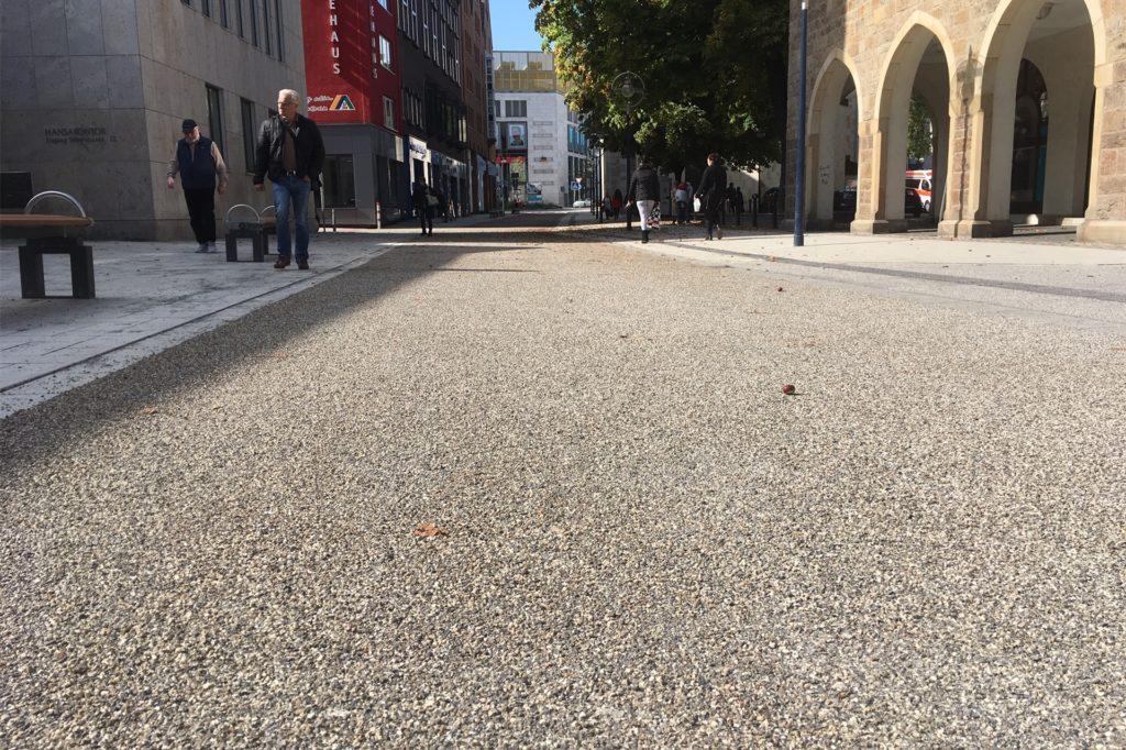 Vorbild für die Umgestaltung der Silberstraße im Bereich von Thier-Galerie und Lensing-Carree ist die 2019 neugestaltete östliche Silberstraße.