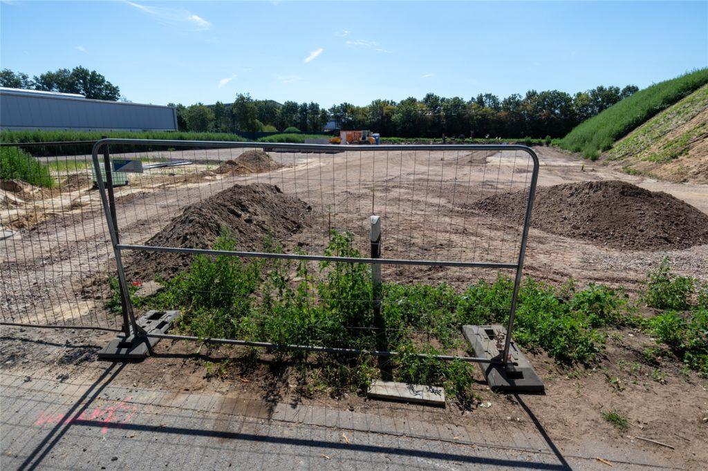 Auf einem 4000 Qudratmeter großen Areal am Schützenweg entsteht der neue Wertstoffhof.