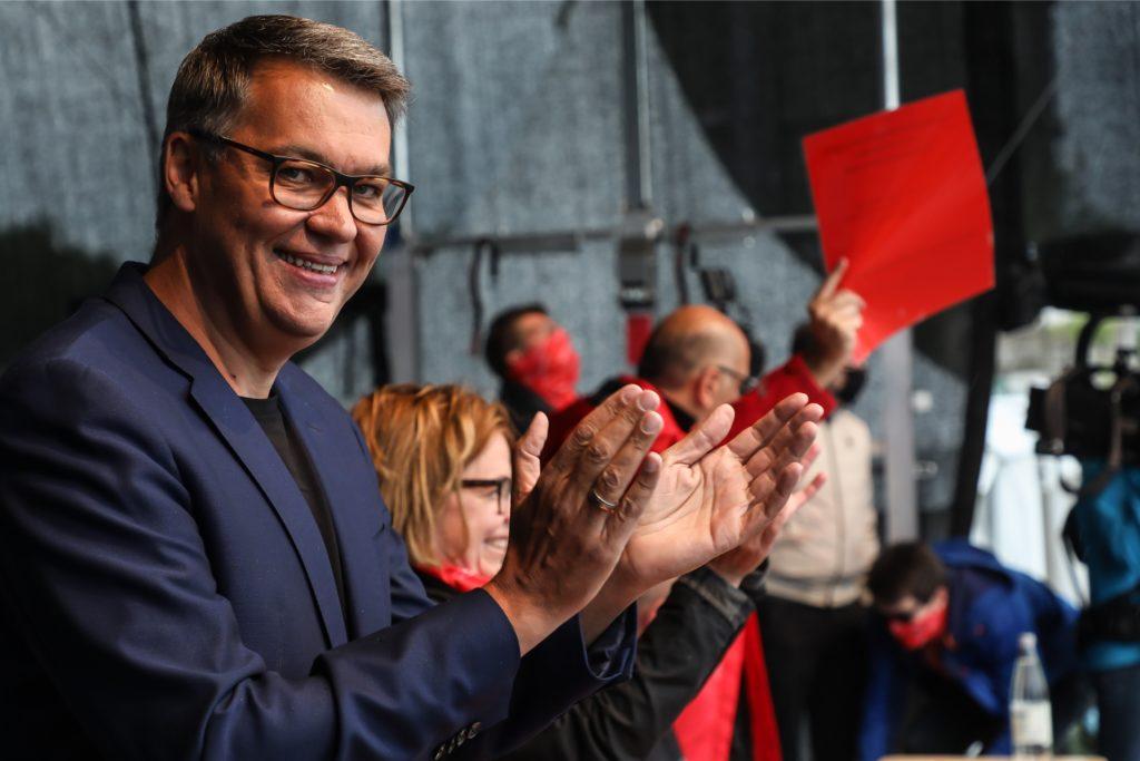 SPD-OB-Kandidat Thomas Westphal bei der Verabschiedung des Wahlprogramms auf dem SPD-Unterbezirksparteitag am 6. Juni.
