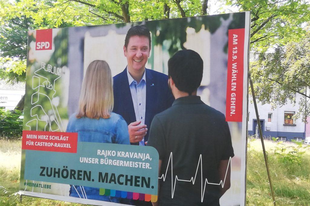 Das Plakat der SPD sei etwas überfrachtet, findet Arthur Dulinski.