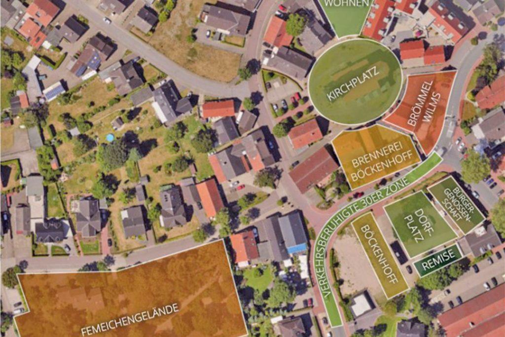 Eine dynamische Entwicklung soll der Erler Dorfkern in den nächsten Jahren nehmen. Andreas Overkämping sieht aber noch Bedarf für einen Feinschliff.