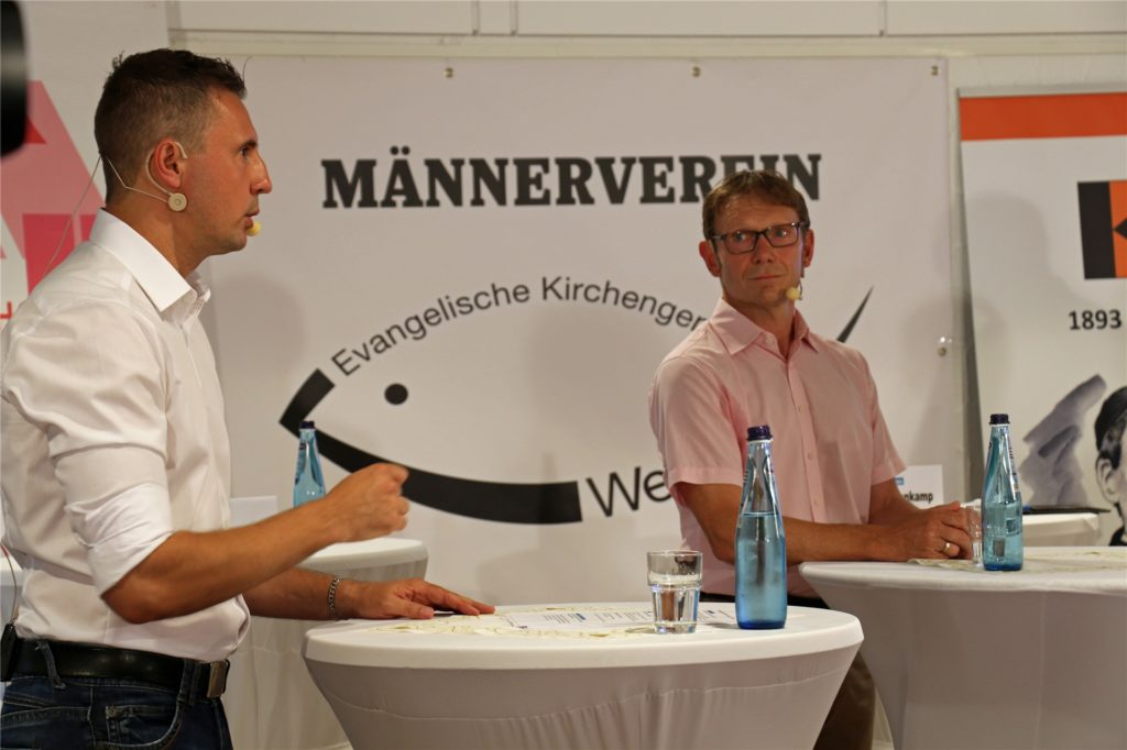 Dominik Bulinski (CDU, l.) und Lothar Christ (parteilos) liegen mit ihren Meinungen oft auseinander.