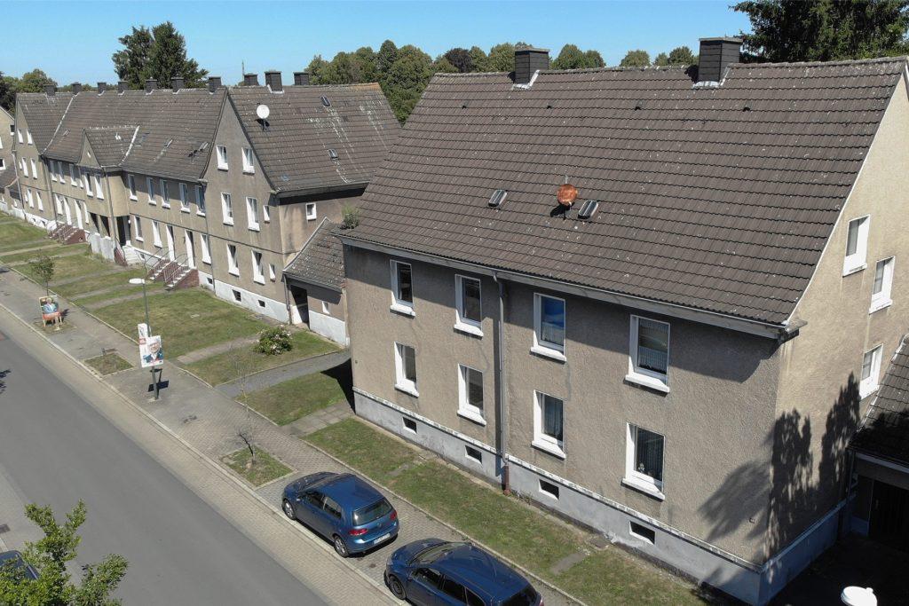 Die Häuser sind mittlerweile ziemlich in die Jahre gekommen.