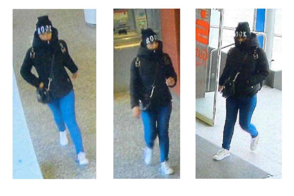 Wer kennt diese Frau? Sie soll einer älteren Frau im März ein Portmonee gestohlen haben und ging dann mit der EC-Karte zum Geldautomaten, um dort Geld abzuheben.