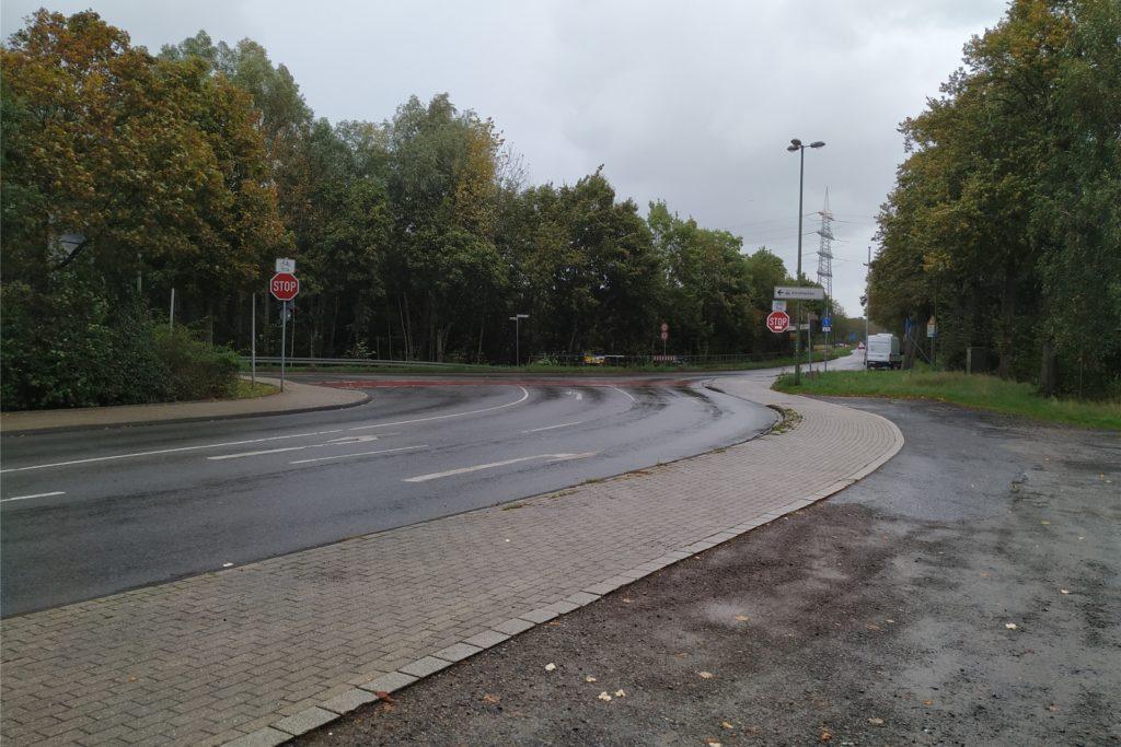 ÖDP-Oberbürgermeisterkandidatin Marianne Dominas macht sich für den Bau eines Kreisverkehrs an der Kreuzung Feldhausener-/Haupt-/Pelsstraße stark.