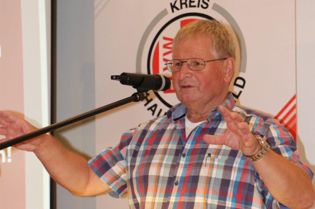 Einen kurzen Abriss der abgebrochenen Saison 2019/20 liefert der Kreisfußballausschussvorsitzende Horst Dastig. Der Fokus galt der Zukunft.