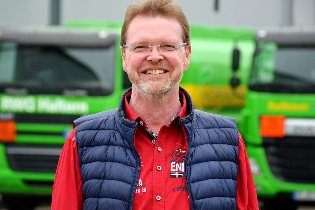Sieht neue Perspektiven im Baustoffhandel für die Raiffeisen-Warengenossenschaft Haltern: Geschäftsführer Günter Hessing.