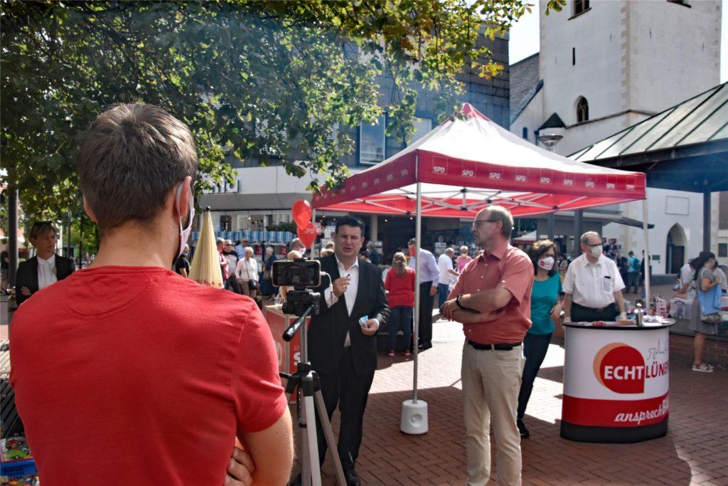 Die SPD nahm ein kleines Promo-Video mit Rainer Schmeltzer und Hubertus Heil auf.