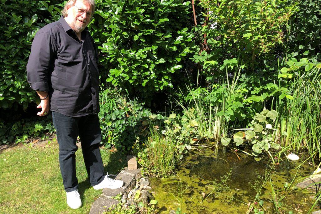 Der Garten ist Wilhelm Gryczan-Wieses grüne Oase.