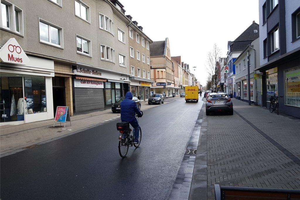 Die Lange Straße in Habinghorst soll Fahrradstraße werden.